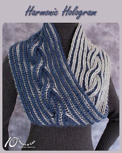 Feed your inner fashionista with a deeply dramatic infinity cowl! Worked in bi-color brioche, the completely reversible fabric sports a rich ribbed cable swirling through the center. Prefer a small neck scarf in fine merino? Or a sumptuous capelet in super bulky alpaca? You can do it all with our step-by-step instructions for adapting the pattern to ANY size with ANY weight of yarn.
