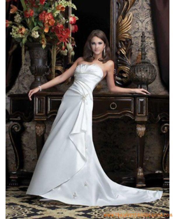 lÍnea A sin tirantes no cintura y costuras Princesas Vestidos de novias 2011
