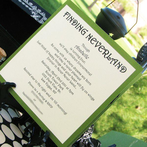 Tinkerbell Invite - Neverland theme