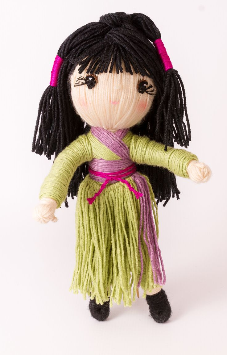 "Adorable yarn doll ""Princess Kaguya"" from ""Yarn Whirled: Fairy tales, Fables, and Folklore"" ."