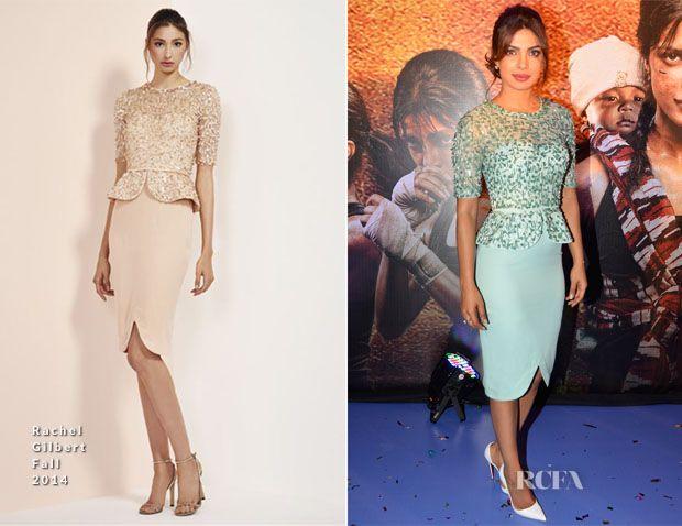 Priyanka Chopra In Rachel Gilbert - 'Mary Kom' Music Launch - Red Carpet Fashion Awards