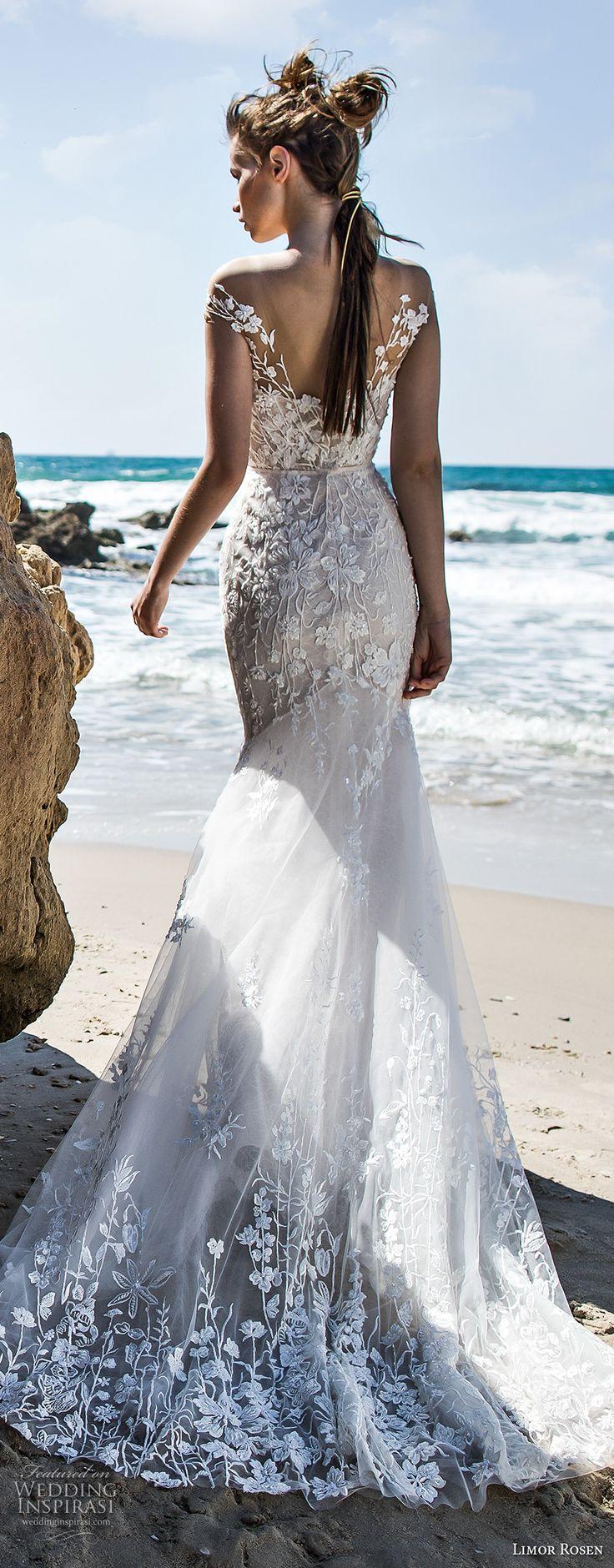 limor rosen 2018 bridal strapless sweetheart neckline full embellishment lace elegant romantic fit and flare wedding dress open back short train (lucia) bv