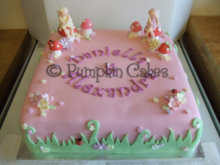 17 best images about hailey 39 s birthday cake ideas on for Fairy garden birthday cake designs