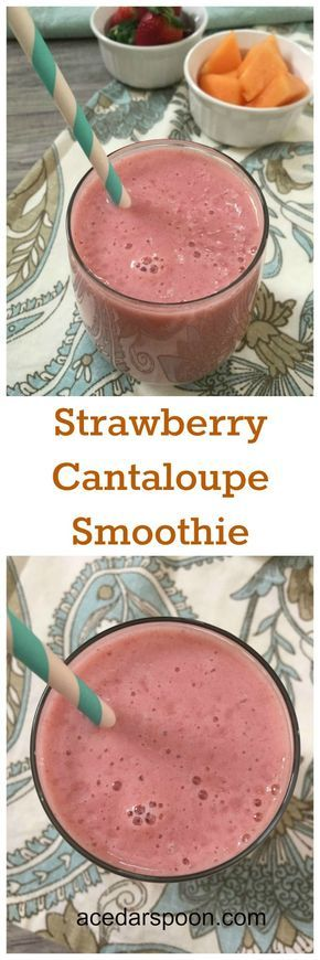 Strawberry Cantaloupe Smoothie