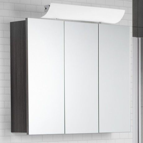 Scanbad Rumba Spiegelschrank 90 X 70cm, Mit Aufgesteckter LED Beleuchtung