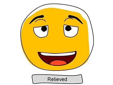 relieved smiley