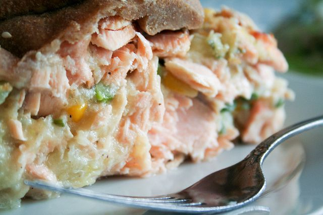 Rustic Salmon Pie-13 by Sonia!   http://thehealthyfoodie.com/2011/05/06/rustic-salmon-pie/#