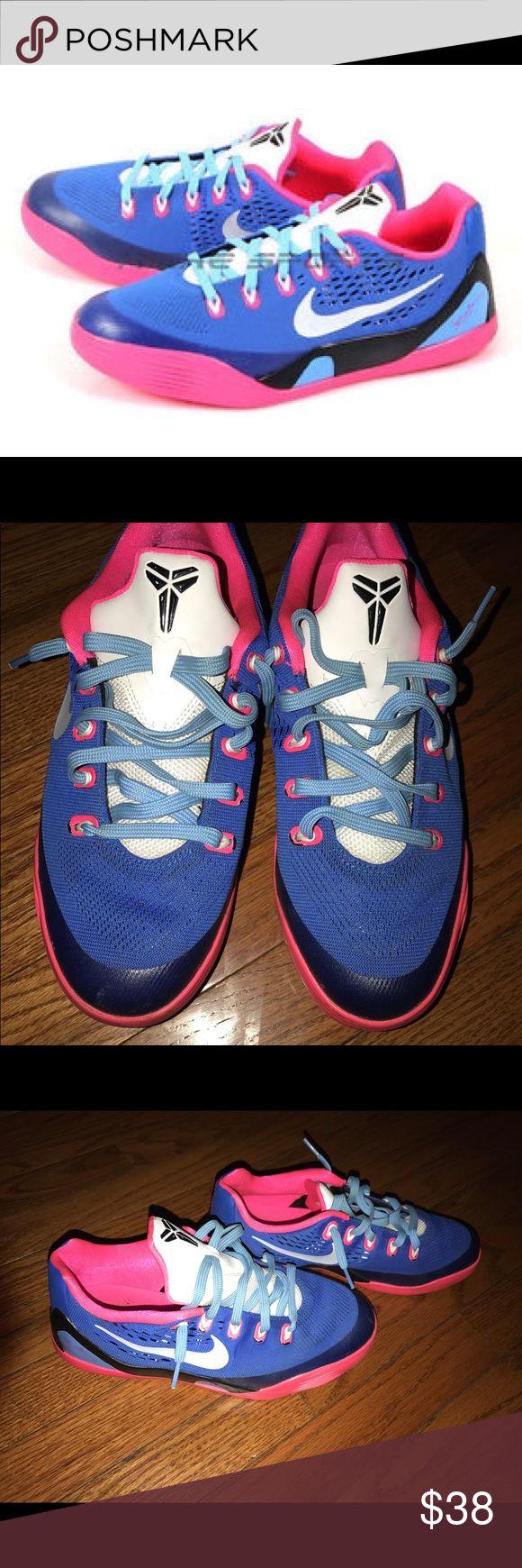 NIKE KOBE 9 EM Pink/Colbalt ⛹🏽♀️⛹🏾🏀 NIKE KOBE 9 EM Pink/Colbalt ⛹🏽♀️⛹🏾🏀 Nike Shoes Sneakers