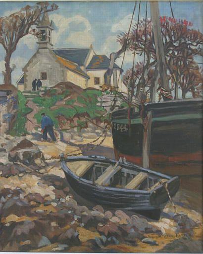 """Yvonne Jean-Haffen,  """"Grève et chapelle de Saint-Cado"""""""
