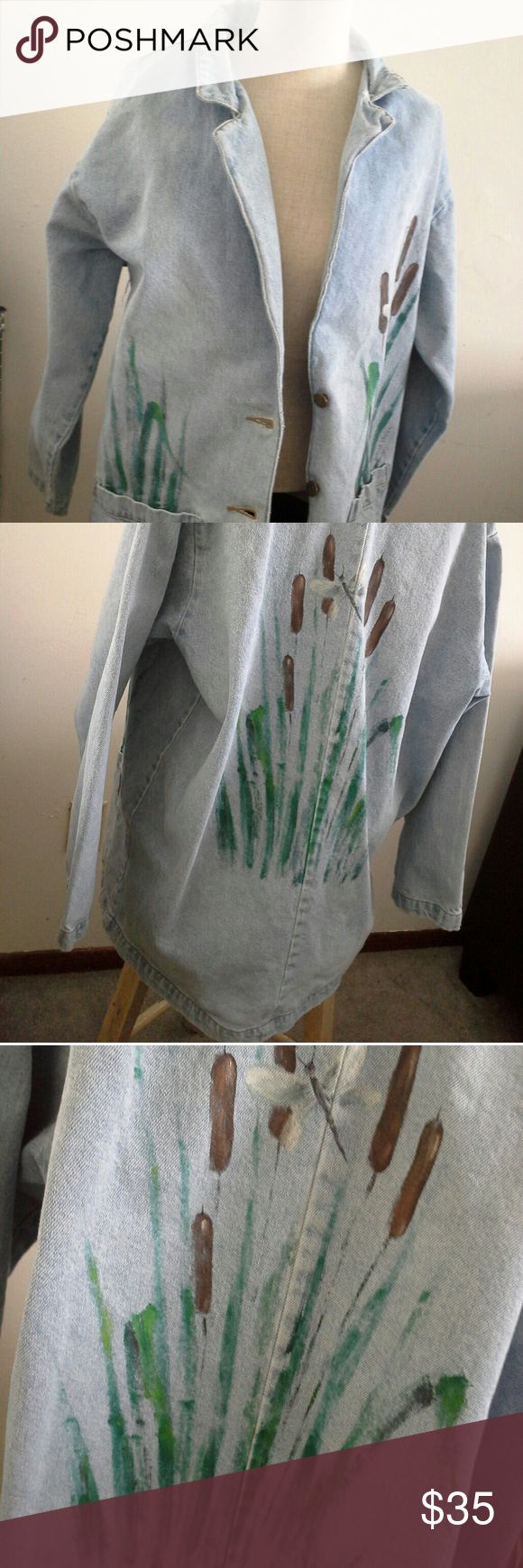 Women's Sun Belt Denim Jacket Good Condition, No Flaws, Rips, Tears or Stains 100% Cotton *** OFFER NEGOITIABLE  Measurment Picture Sunbelt Jackets & Coats Jean Jackets