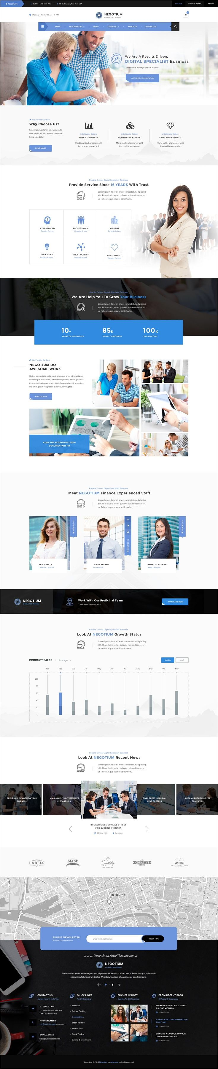Negotium is a perfect #PSD template for #financial companies, #business firms, investment, consulting, broker agencies website with 3 unique homepage layouts and 14 organized PSD pages download now➩ https://themeforest.net/item/negotium-business-finance-consultation-multipurpose-psd-template/16892214?ref=Datasata