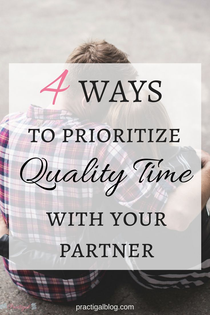 Spending regular quality time with you partner grows the relationship because it allows you to connect on a deeper level. CLICK through to article to find out four easy ways to prioritize quality time with your partner so that you always have time for each other!