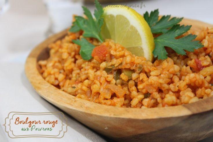La recette de boulgour comme en Turquie ou dans les restaurants turcs avec tomates et poivrons verts. Une recette végétarienne rapide et facile, le boulghour