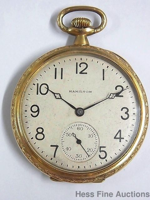 Art Deco Hamilton Mens 17J Running Antique 1921 Ultra Fine Pocket Watch  #Hamilton