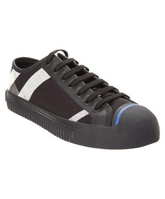be1b6533bf777 BURBERRY BURBERRY KIRK CANVAS CHECK   LEATHER LOW TOP SNEAKER.  burberry   shoes