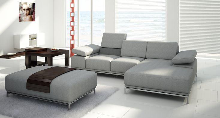 Narożnik zachwycający rozwiązaniami zagłówka oraz funkcji spania... #furniture #meble #narożniki