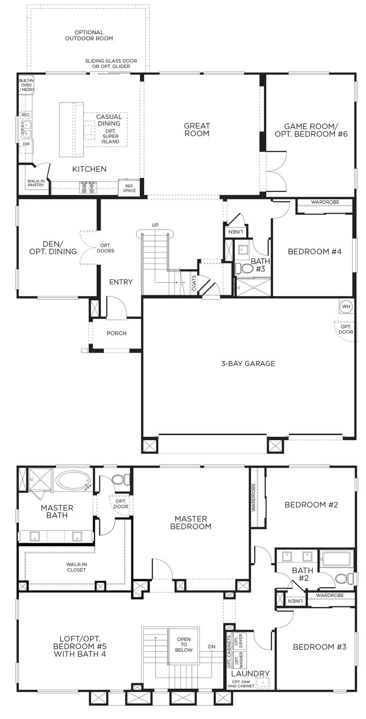 25 best four bedroom house plans ideas on pinterest one floor new woodmont plan 2a homes at woodmont will be spacious ranging in size from