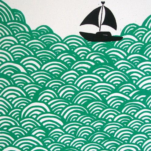 Bigger Boat PrintBigger Boats, The Ocean, Boats Throw, Cushions Covers, Throw Pillows, Prints, Products, The Waves, Design