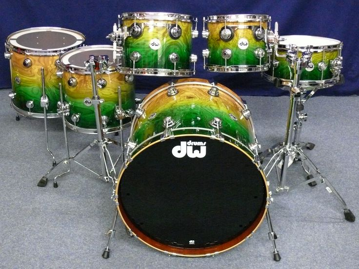 Dw DW Collector's Maple Mahogany Exotic Shellset 2012 Drum ...