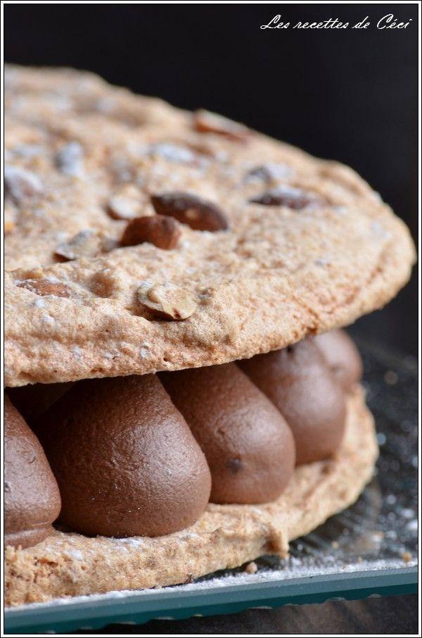 Dacquoise aux amandes & chocolat