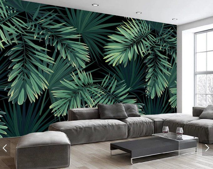 Tree Leaves Watercolor  Wallpaper Wall Decals Wall Art Print Mural
