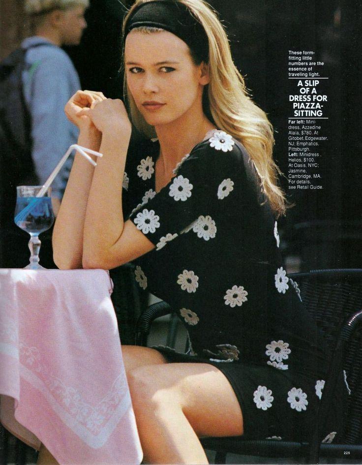 80s-90s-supermodels:    Elle US, August 1990Photographer: Marc HispardModel: Claudia Schiffer