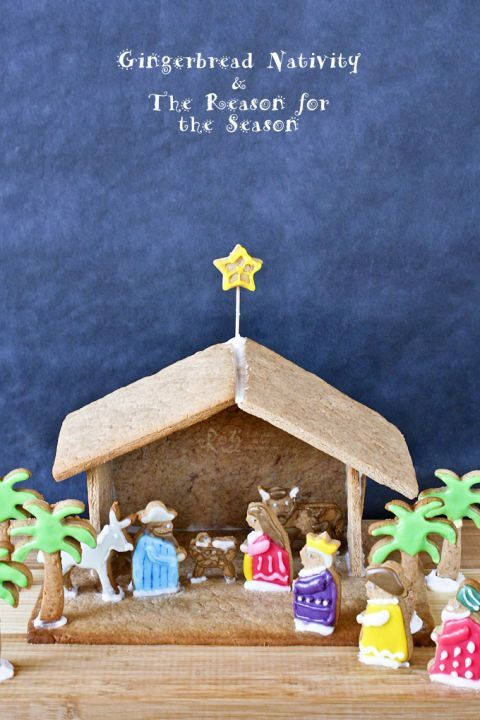 This gingerbread nativity is a sweet way to pay tribute to the true meaning of Christmas.