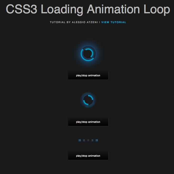 Hi folks, this time we're going to see and create three CSS3 animation loop, can be used in many fields, such as preloader for images with jQuery.
