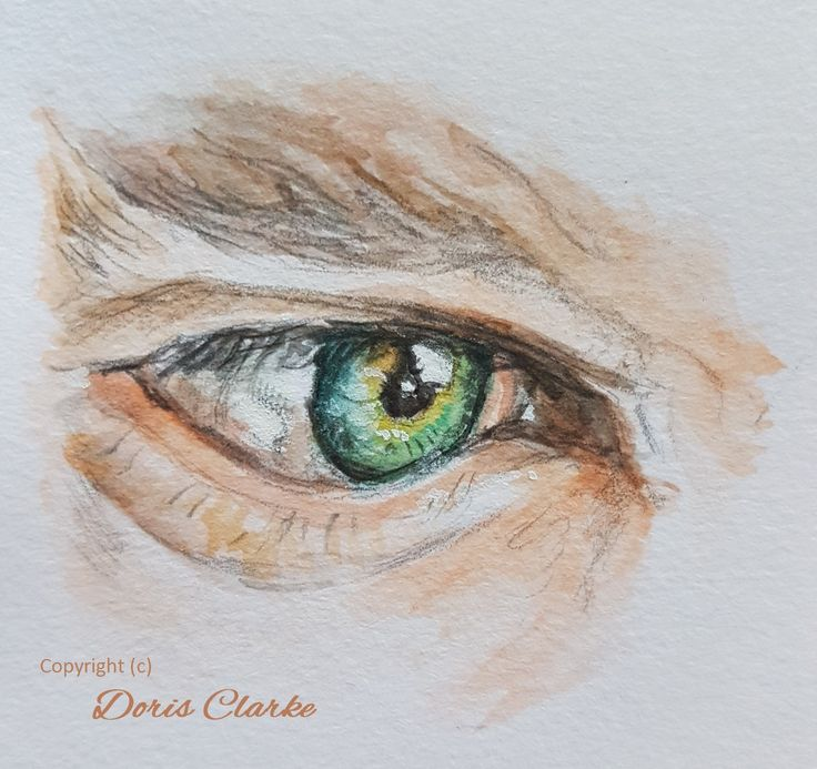 Eye study of Benedict Cumberbatch. Wanted to capture the shape and colour of the eye.