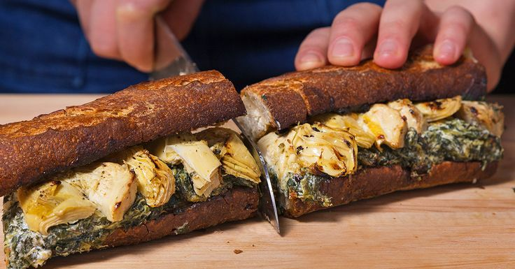 All of the flavors and nostalgia that you love about classic spinach-artichoke dip are transformed into glorious toasted sandwich form.