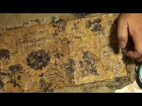 Mixed media envelope process video - YouTube