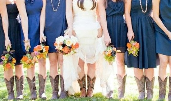 Cowgirl boots and blue dresses!