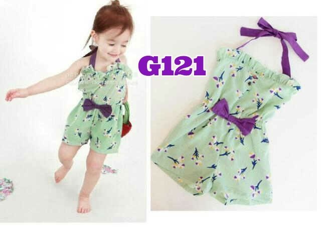 Overall green ribbon (G121)    size 80-120    IDR 79.000