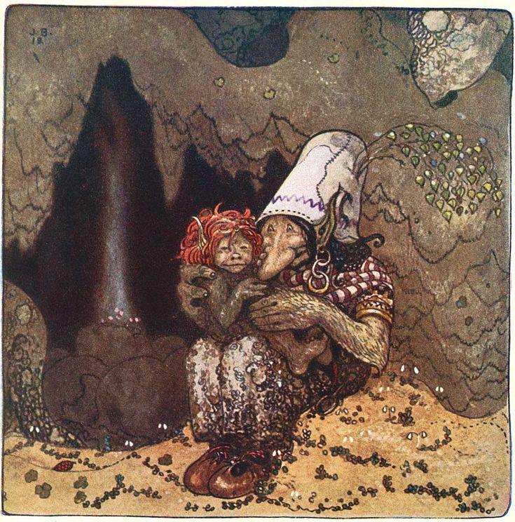 'Humpe' was one of John Bauer's main character in the dramatic  and romantic adventure 'Trollsonen som hade solögon och vart  skogsman' by Vilhälm Nordin, in 'Bland Tomtar och Troll', 1912
