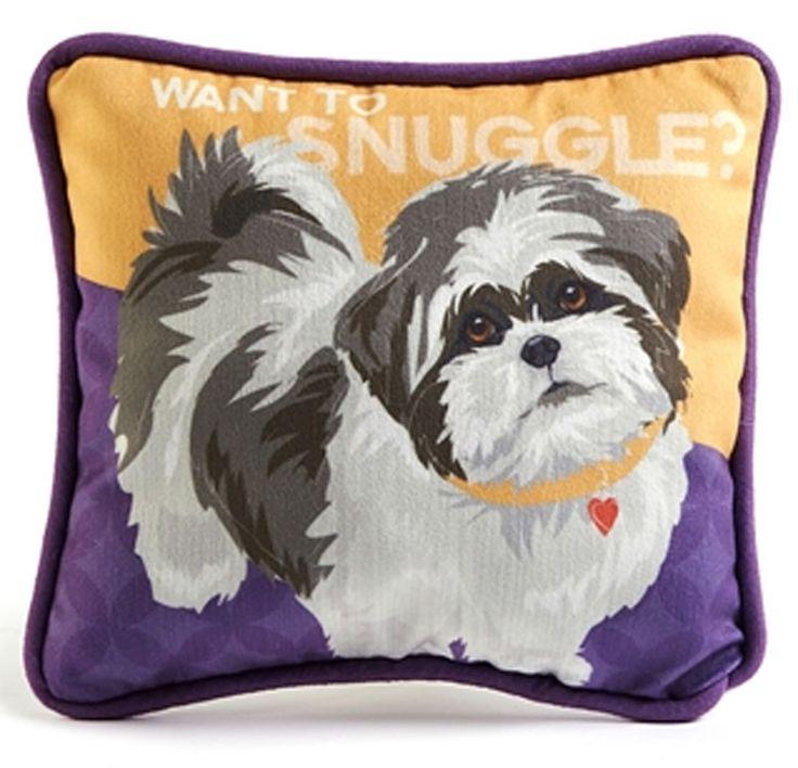 Shih Tzu Decorative Dog Pillow 9?8 Puppy Cut Hair..Great gift for a shih tzu lover! www ...