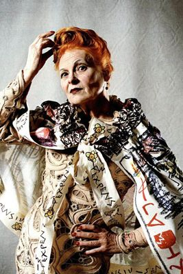 "One might imagine that, at age 70, fashion designer VIVIENNE WESTWOOD's days shocking the bourgeoisie might be long over.......particularly as a doyenne of the fashion industry, is to make no attempt to hide the ravages of time upon your face, all the while dressing like you don't give a tinker's damn what the world thinks an ""old lady"" is supposed to look like. Because, of course, you don't."