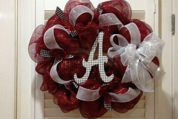 Alabama Crimson Tide Door Wreath  Roll Tide by GreatLittleGiftShop, $70.00