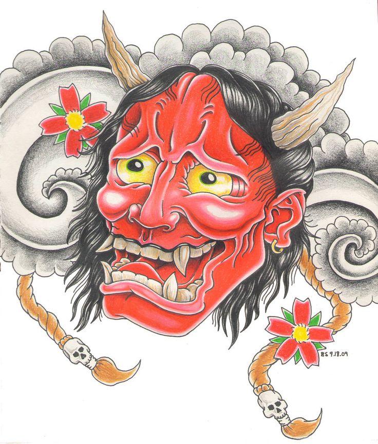 17 Best ideas about Hannya Mask Tattoo on Pinterest   Oni ...