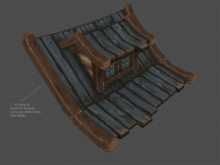 Hand painted environment - Wood house - Page 7 - polycount