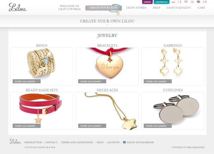 Everyone can be the designer of its own piece of jewellery. Visit our website at http://lilouparis.com/en-us/create_your_lilou and create a unique piece of jewellery!