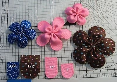 Rounded petal ribbon flower by suzette