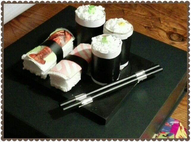 Sushi surprise gemaakt door dochterlief..
