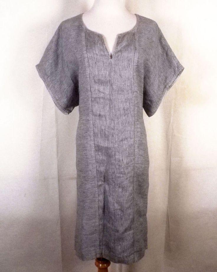 euc Poetry Crinkle 100% Linen Relaxed Batwing Tunic Dress UK 10 / US 6 #Poetry