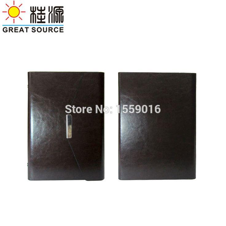 Great Source Conference folder bill folder leather High light 6 rings binder folder easily replace a6 notebook 2017 calendar