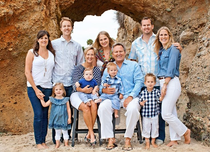 Great large family shot, love the mixed blues with the sandy background