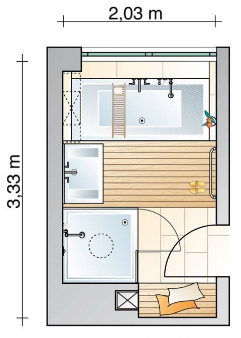 die 48 besten bilder zu grundrisse badezimmer auf pinterest - Kleines Badezimmer Grundriss