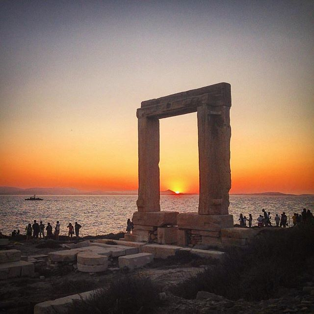 Naxos island (Νάξος). Stunning sunset time at the temple of Apollo . Nice capture by @travelandfilm . ⚠️Tag your Friends or Send it Direct as a message wherever you want ➡️⚠️ #Naxos #Cyclades #Greece #AegeanSea #VisitGreece #GreekSummer #portara #templeofapollo #nowisthetime #Greekislands #traveltoGreece #athensvoice #grece #grecia #греция #summer2016 #Μαξος #Κυκλαδες #Ελλαδα #Cyclades_islands #
