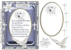 Sympathy Verse Pet A5 on Craftsuprint - View Now!