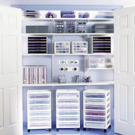 I want to turn one of my spare bedrooms into my own Craft Room - use closet for storage.
