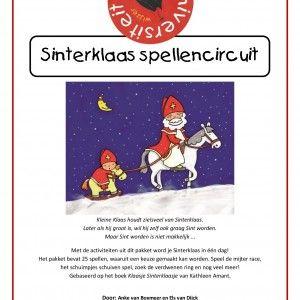 Spellencircuit-sinterklaas-1 Met de activiteiten uit dit pakket word je Sinterklaas in één dag! Het pakket bevat 25 spellen, waaruit een keuze gemaakt kan worden. Speel de mijter race, het schuimpjes schuiven spel, zoek de verdwenen ring en nog veel meer! Gebaseerd op het boek Klaasje Sinterklaasje van Kathleen Amant.